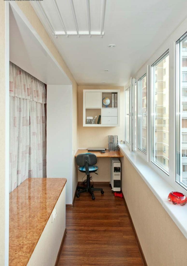 Фото балконов внутри дизайн с комнатой.